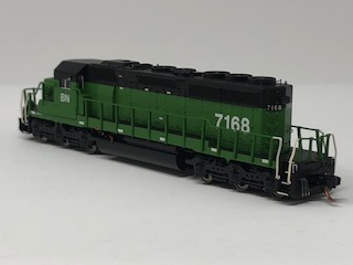 N Scale Charlie Hopkins Special EMD SD40-2 BN DC Version #7168