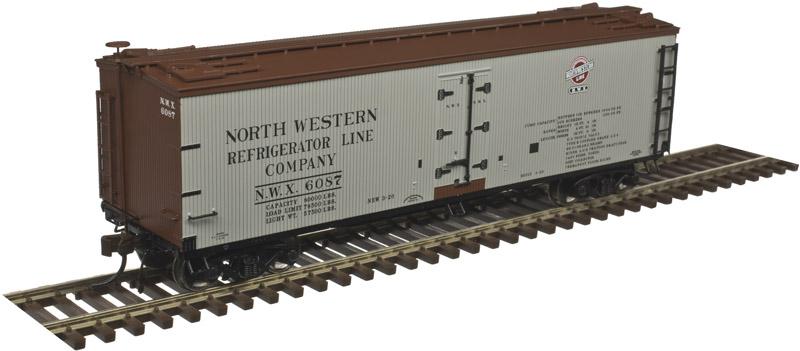 Atlas Master HO 20004745 40' Wood Reefer North Western Refrigerator Line NWX #6126