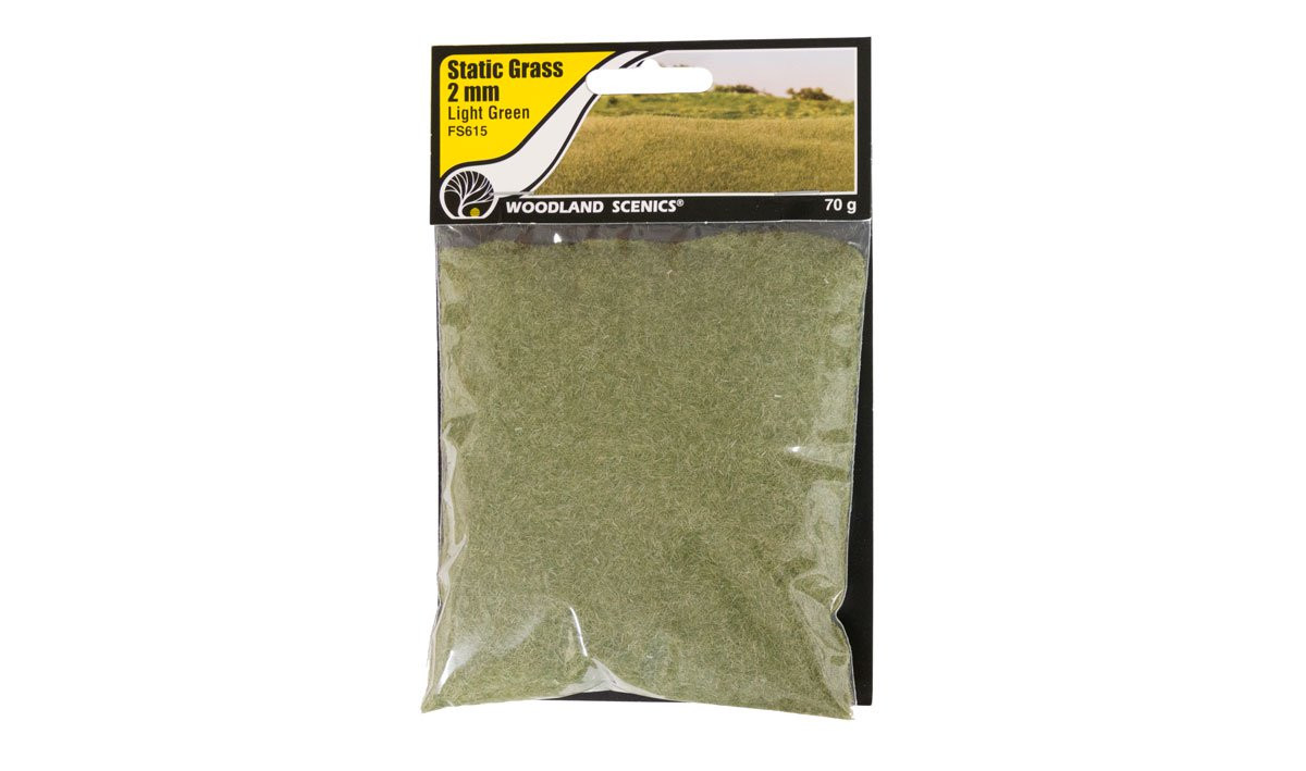 Woodland Scenics FS615 Static Grass 2 mm Light Green