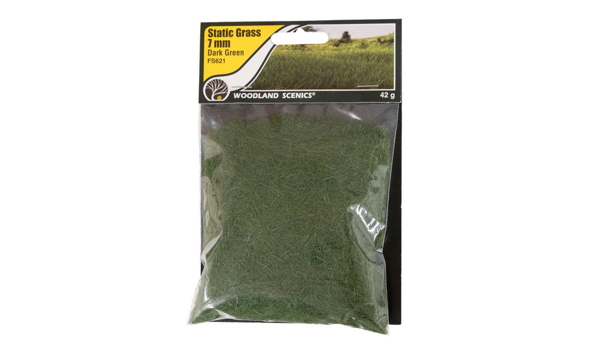 Woodland Scenics FS621 Static Grass 7 mm Dark Green
