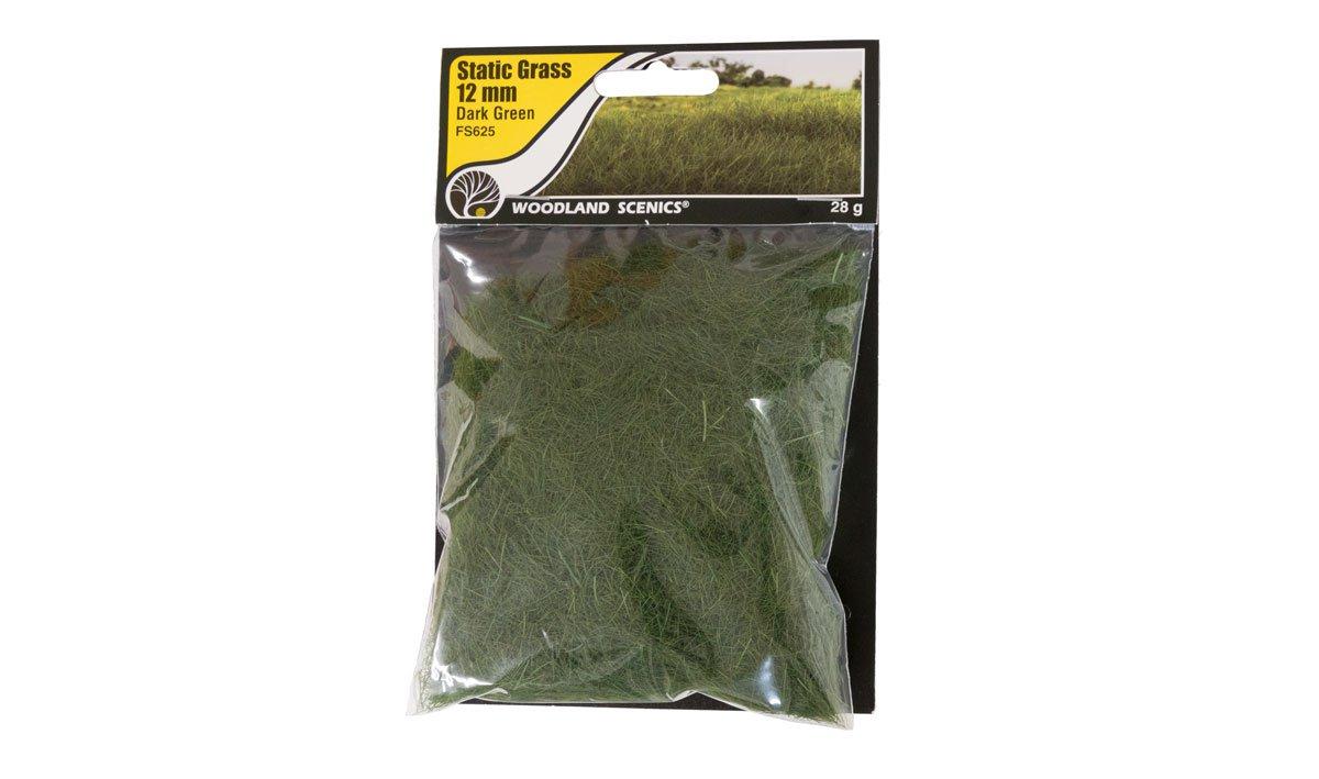 Woodland Scenics FS625 Static Grass 12 mm Dark Green