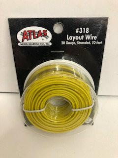 Atlas N/HO #318 Layout Wire 20 Gauge Stranded 50 feet Yellow