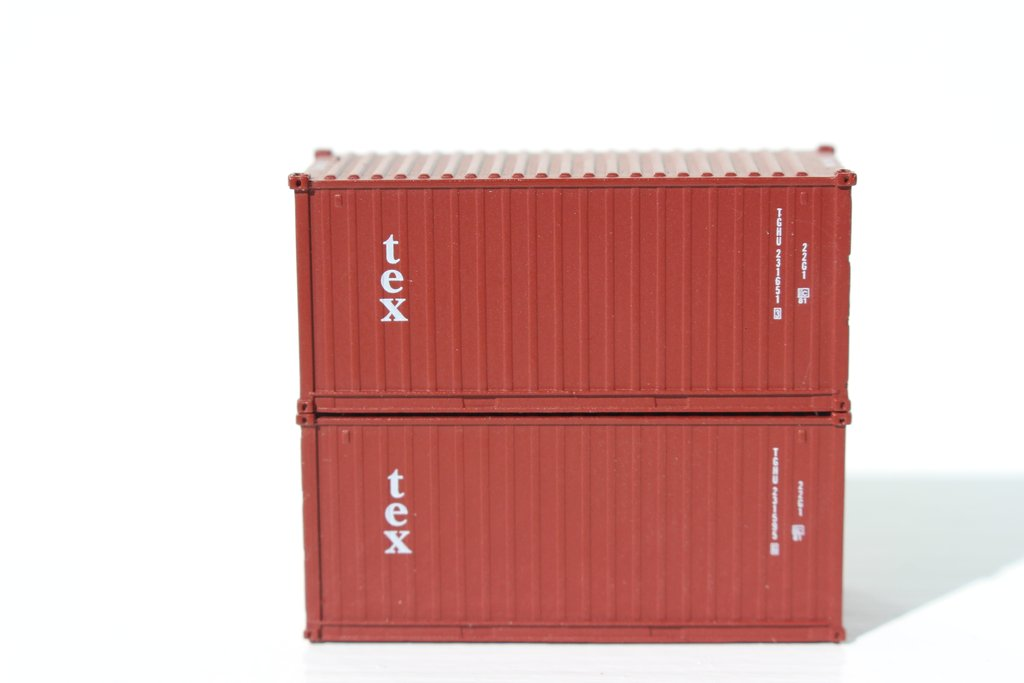 Jacksonville Terminal Company N 205335 20' Standard Height Container TEX (Kien Hung Lease) 2-Pack