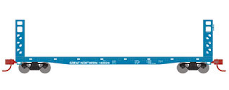 Athearn N ATH24184 53ft GSC Bulkhead Flat Car Great Northern GN #160016