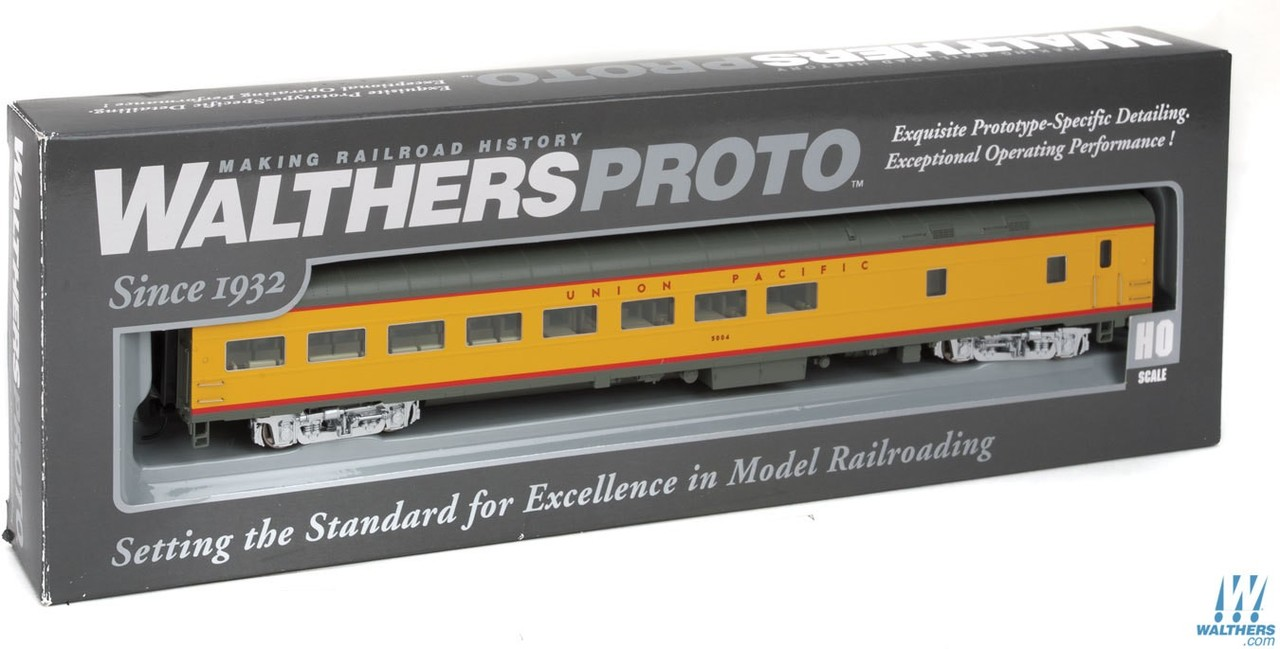 Walthers Proto HO 920-9544 85ft ACF Cafe-Lounge Union Pacific UP #5004