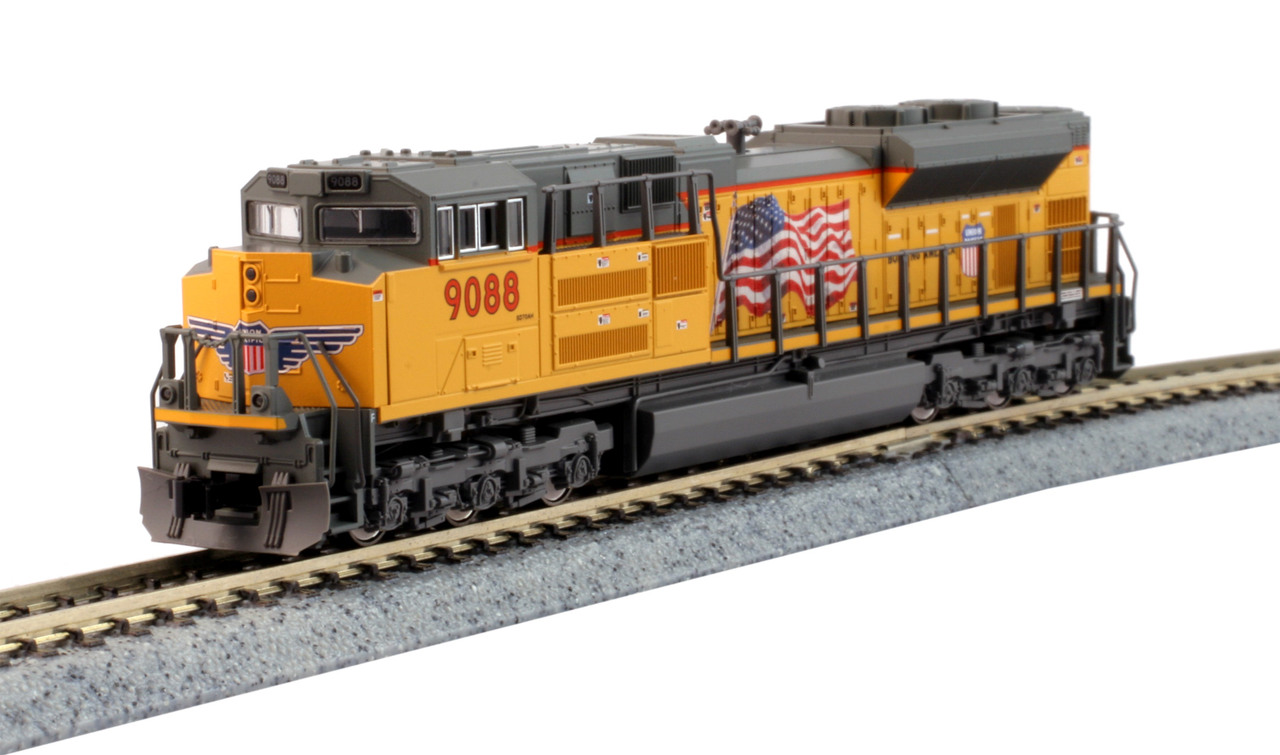 Kato N 176-8522 LS DCC/Lok Sound EMD SD70ACe Diesel Locomotive Union Pacific Flag Scheme UP #9088