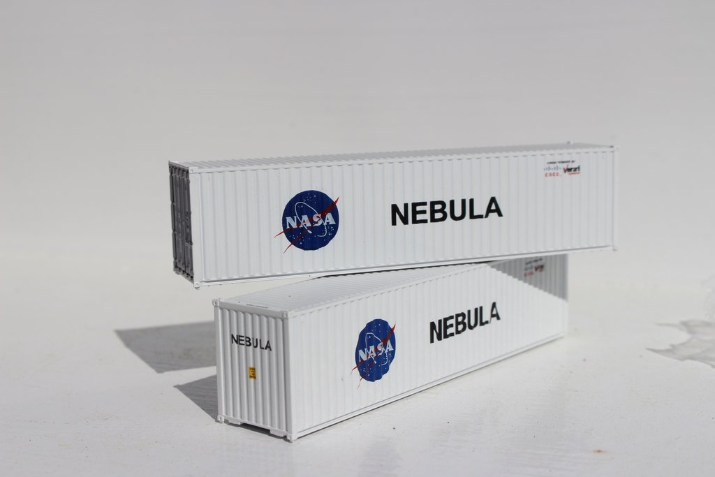 Jacksonville Terminal Company N 405042 40' High Cube Container NASA Nebula 2-Pack