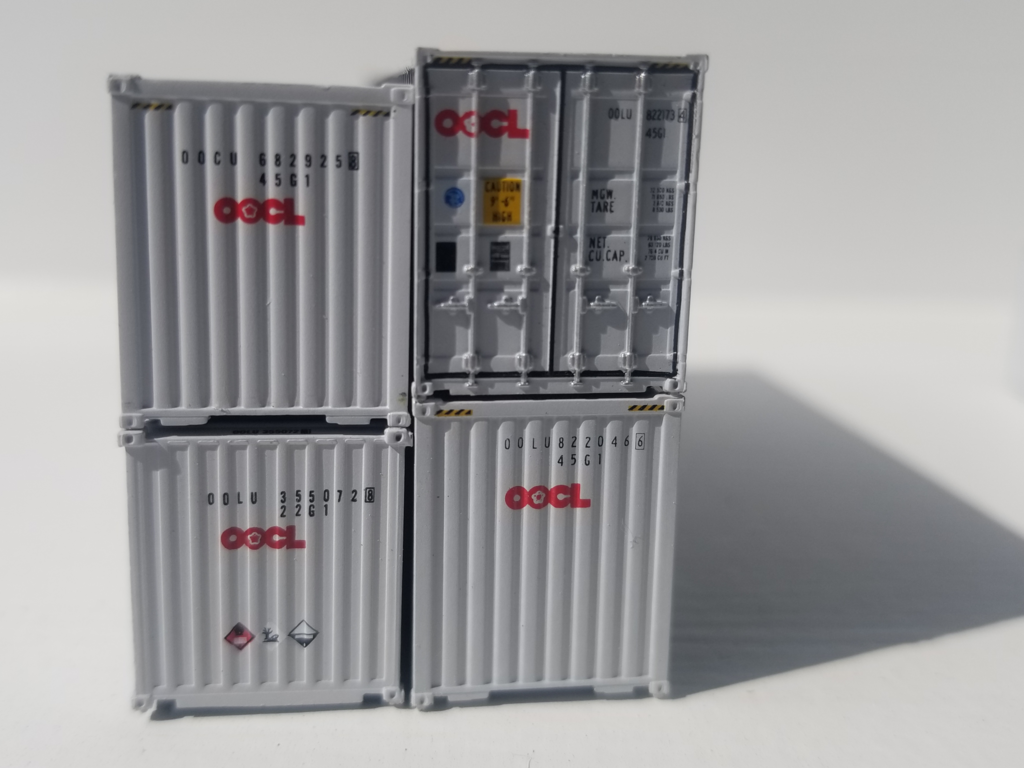 Jacksonville Terminal Company N 405023 40' High Cube Container OOCL Phantom 2-Pack