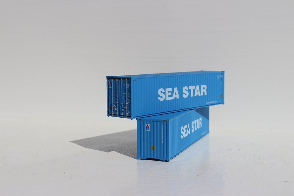 Jacksonville Terminal Company N 405043 40' High Cube Container SEA STAR 2-Pack