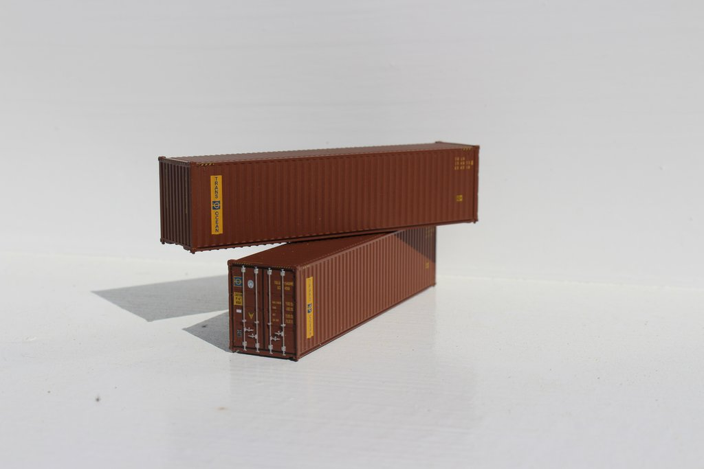 Jacksonville Terminal Company N 405027 40' High Cube Container TRANS OCEAN 2-Pack