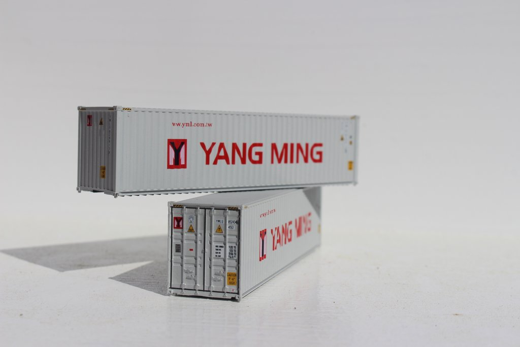 Jacksonville Terminal Company N 405039 40' High Cube Container YANG MING 2-Pack