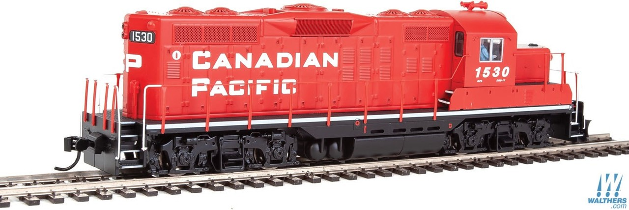 Walthers Mainline HO 910-10404 EMD GP9 Phase II with Chopped Nose Locomotive with Standard DC Canadian Pacific CP #1530