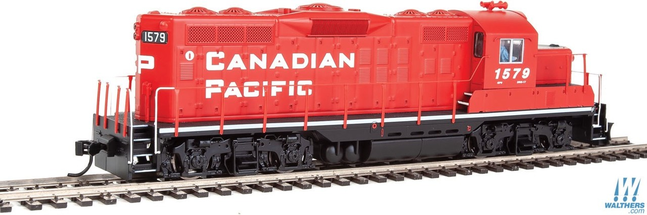 Walthers Mainline HO 910-10405 EMD GP9 Phase II with Chopped Nose Locomotive with Standard DC Canadian Pacific CP #1579