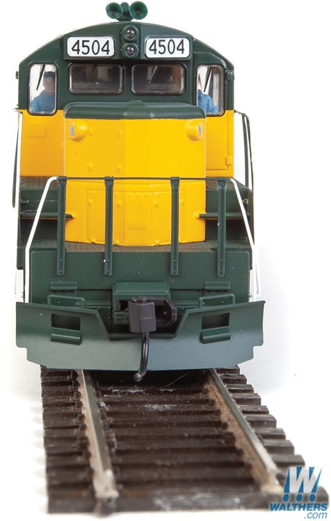 Walthers Mainline HO 910-10406 EMD GP9 Phase II with Chopped Nose Locomotive with Standard DC Chicago & North Western CNW #4504