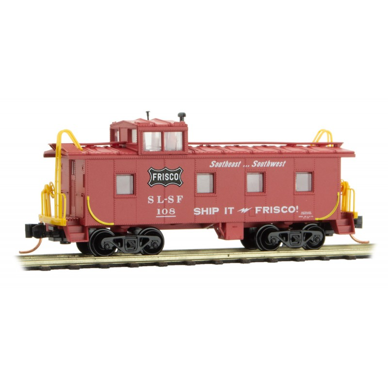 Micro Trains 100 00 420 36' Riveted Steel Caboose w/ Offset Cupola Frisco #108