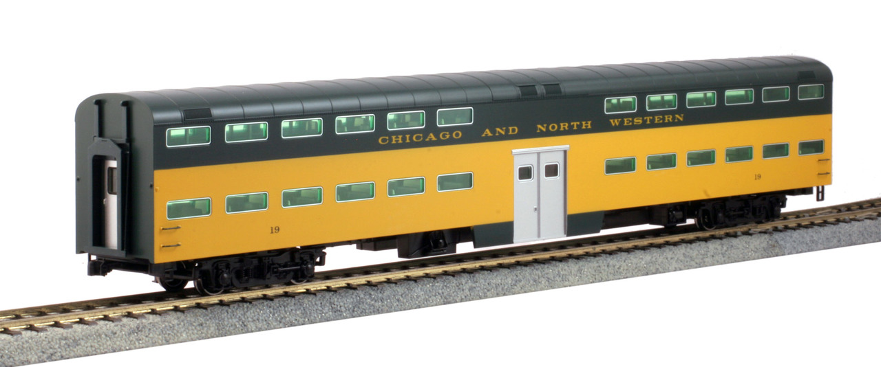 Kato HO 356043 Pullman Bi-Level 6 Window Coach Chicago & Northwestern CNW #19