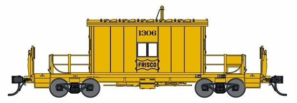 Bluford Shops N 24441 Transfer Caboose Frisco SLSF #1326