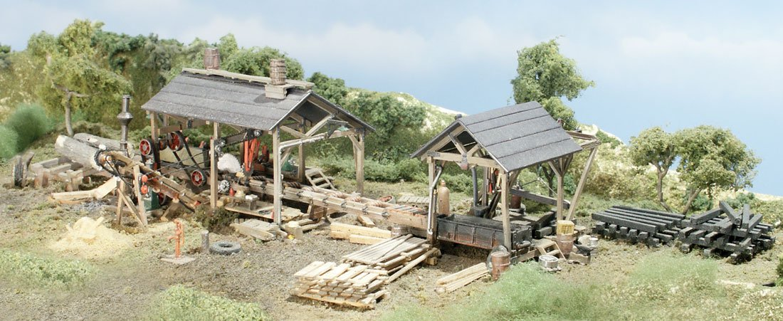 Woodland Scenics TS154 HO Trackside Scenes - Tie & Plank Mill - Kit