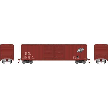 Athearn RTR HO ATH27191 50' FMC Centered Double Door Box Car Chicago & North Western CNW #67735