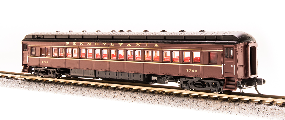 Broadway Limited Imports N 3769 P70 Passenger Car Heavyweight Coach without AC Pennsylvania Railroad Tuscan Red with Gold Lettering and Stripes PRR # 1046