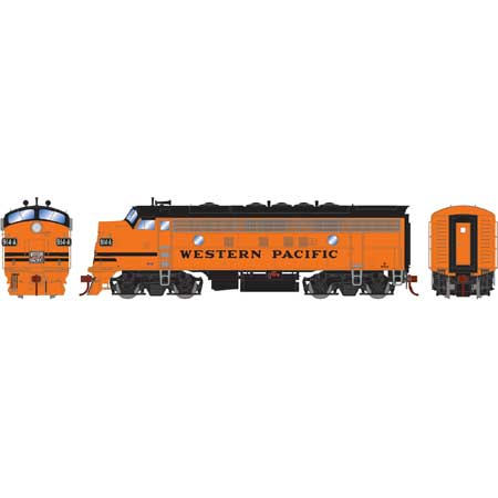 Athearn Genesis HO ATHG22704 DCC Ready F7A Western Pacific Freight WP #914A