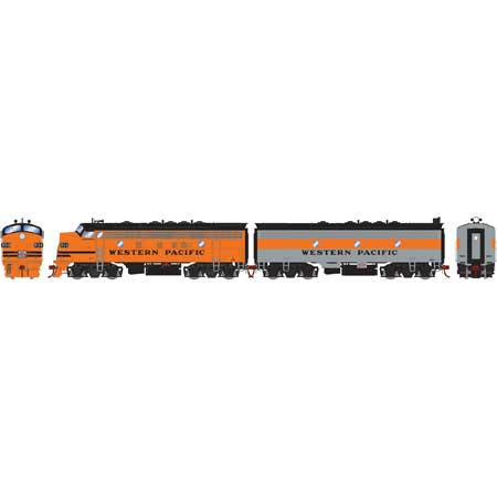 Athearn Genesis HO ATHG22731 DCC Ready F7A/F7B Western Pacific Freight WP #913A/924C