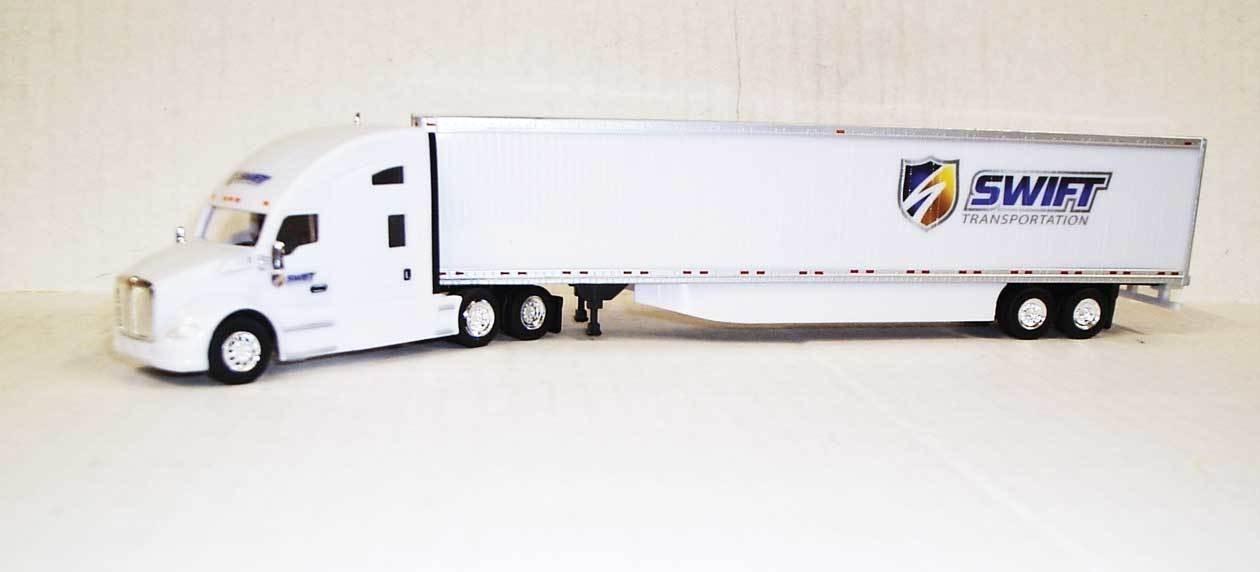 Trucks N Stuff HO TNS138 Kenworth T680 Sleeper Cab with 53' Trailer Swift Transportation