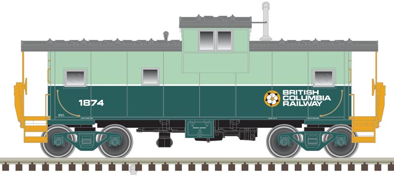 Atlas Master HO 20005020 Extended Vision Caboose British Columbia Railway BCOL #1874