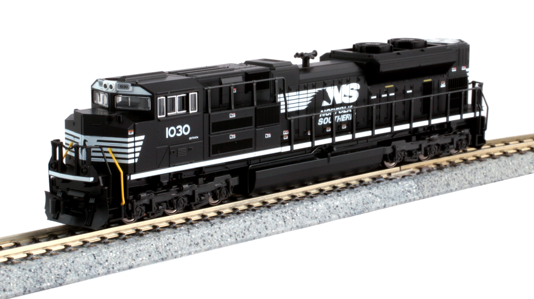 Kato N 176-8514 DCC Ready EMD SD70ACe Diesel Locomotive Norfolk Southern NS #1030