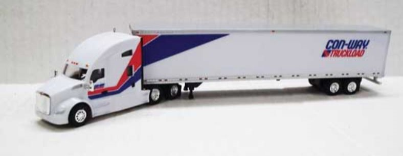 Trucks N Stuff HO TNS032 Kenworth T680 Tractor with 53' Dry Van Trailer CON-WAY TRUCKLOAD