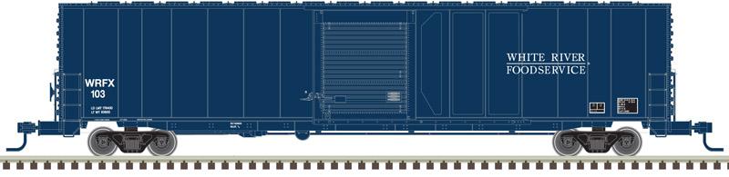 Atlas Master N 50004965 60' ACF Auto Parts Single Door Box Car White River Foodservice WRFX #102