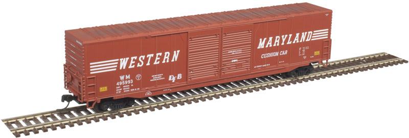 Atlas Master N 50004973 60' ACF Auto Parts Double Door Box Car Western Maryland WM #495991