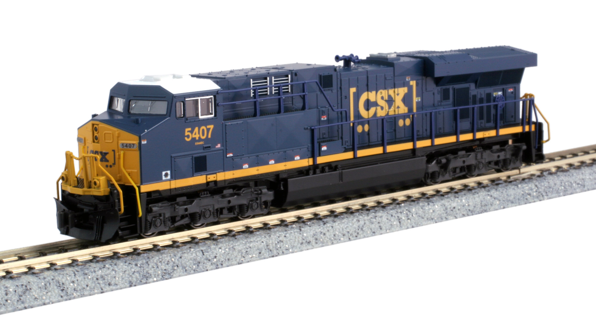 Kato N 176-8937 GE ES44DC CSX 'Boxcar' Logo CSX #5407