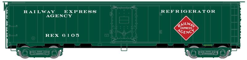 Atlas Master HO 20005350 REA Steel Express Reefer Railway Express Agency Mid 1950s Scheme 2 - REX #6285