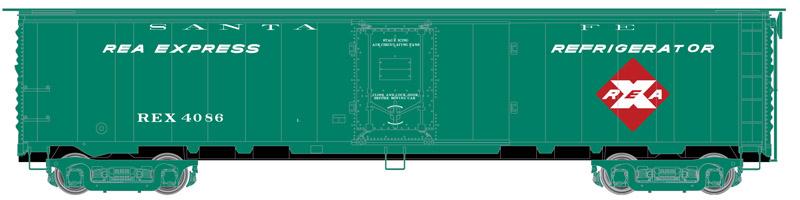 Atlas Master HO 20005361 REA Steel Express Reefer Santa Fe - REX #4086