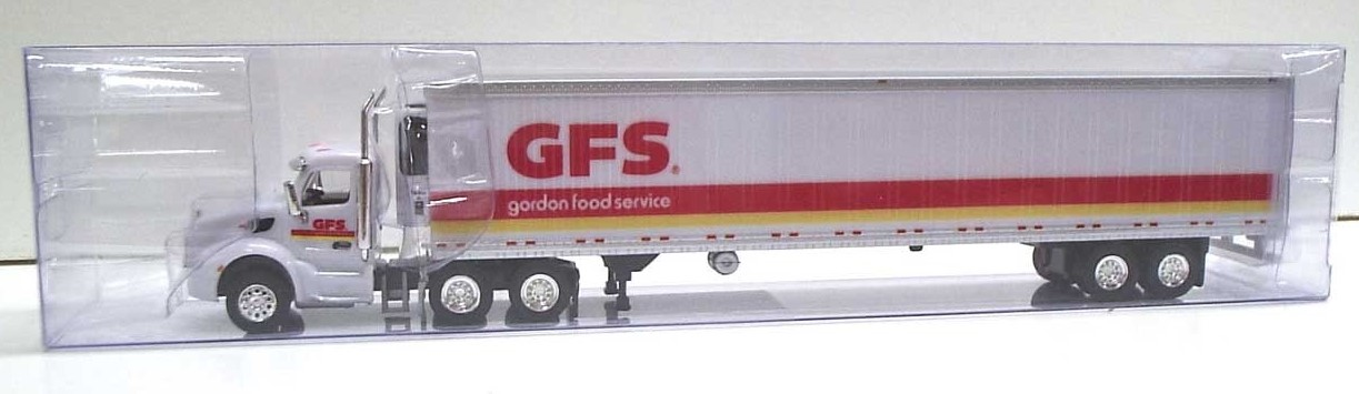 Trucks N Stuff HO TNS106 Peterbilt 579 Tractor with 53' Reefer Trailer GORDON FOOD SERVICE GFS