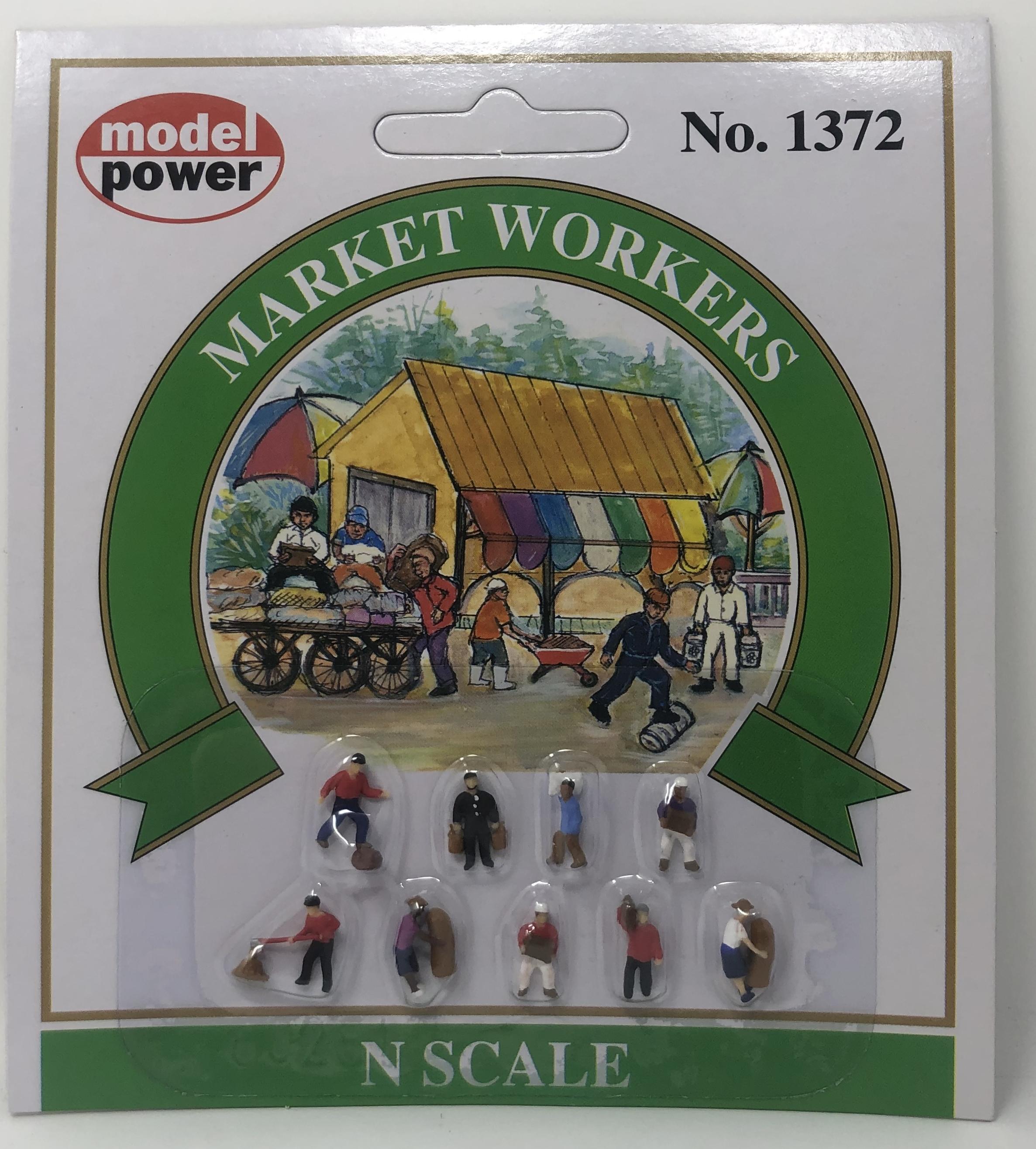 Model Power N 1372 Market Workers - 9 Pcs