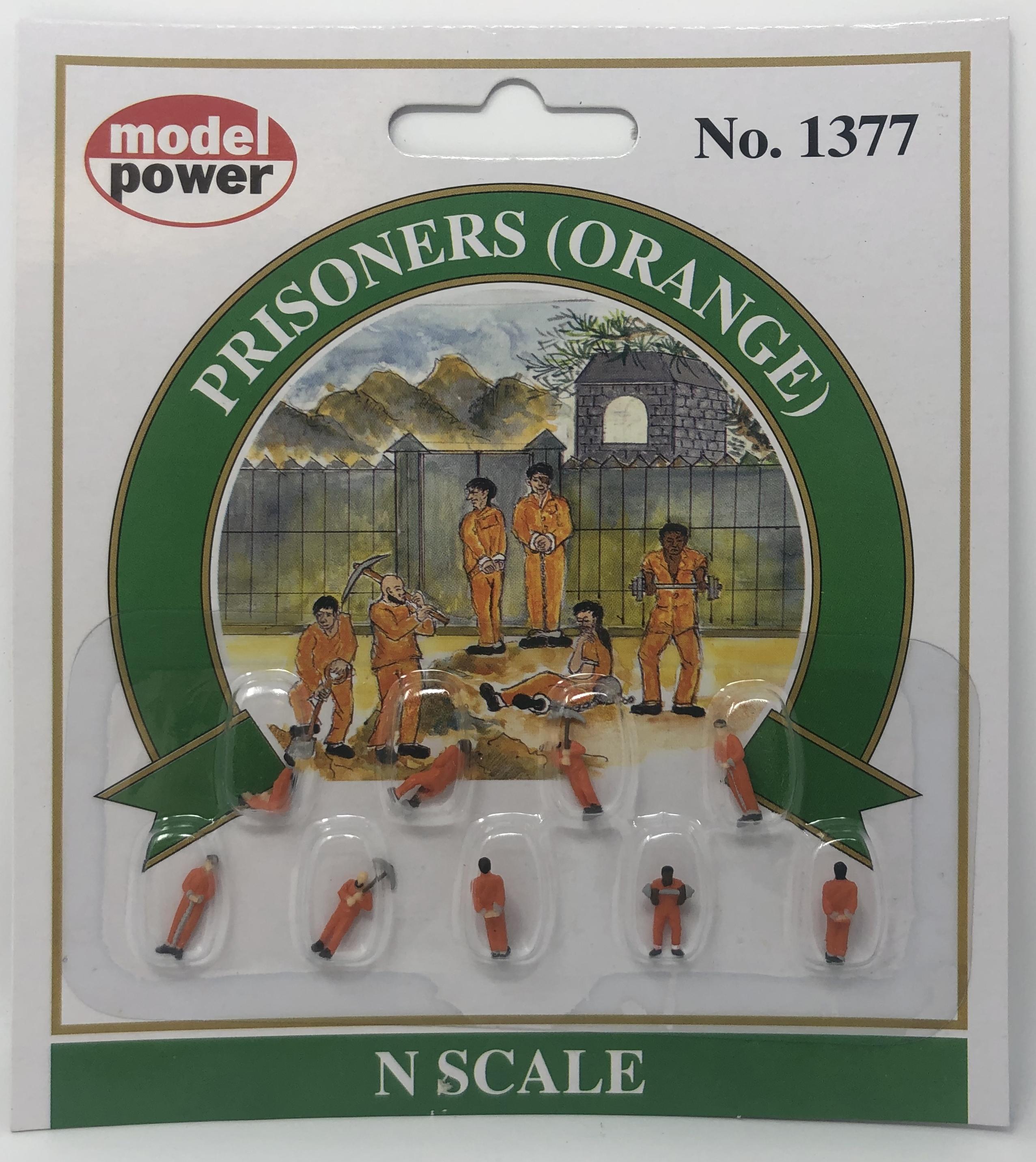Model Power N 1377 Prisoners Orange - 9 Pcs