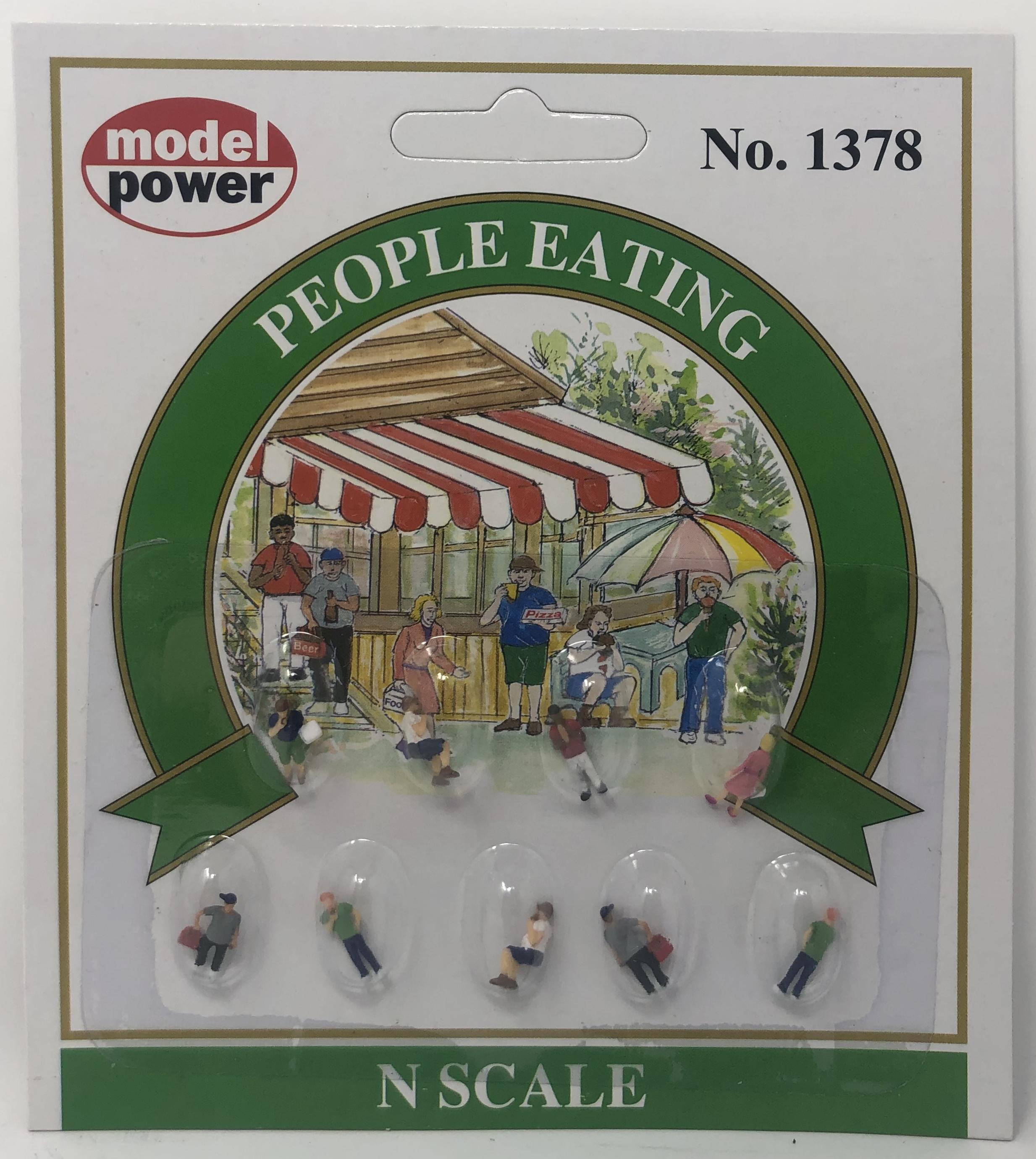 Model Power N 1378 People Eating - 9 Pcs