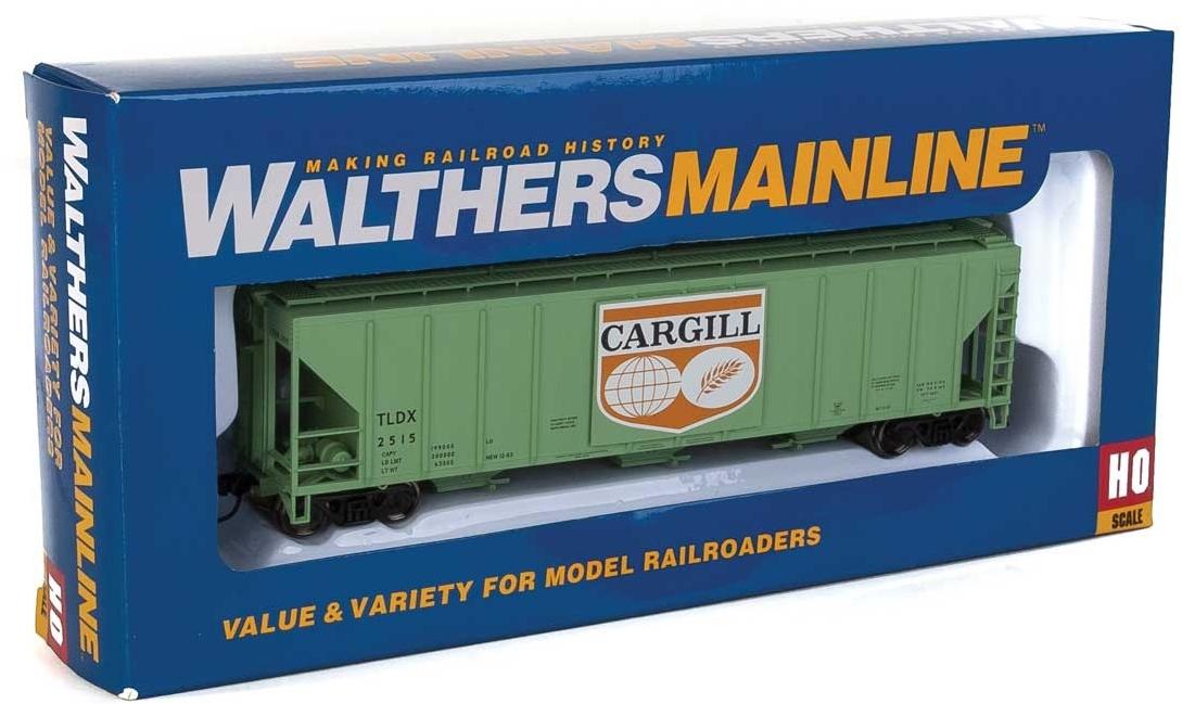 Walthers Mainline HO 910-7456 50' Pullman-Standard PS-2 CD 4427 3-Bay Covered Hopper Cargill Logo Panel TLDX #2515