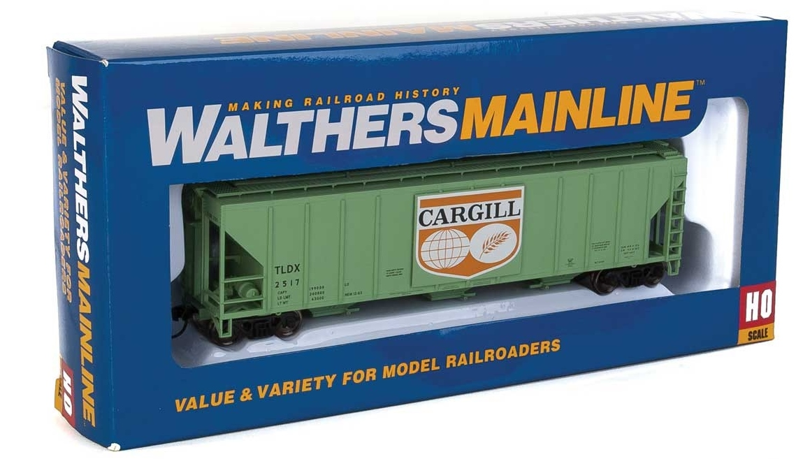 Walthers Mainline HO 910-7457 50' Pullman-Standard PS-2 CD 4427 3-Bay Covered Hopper Cargill Logo Panel TLDX #2517