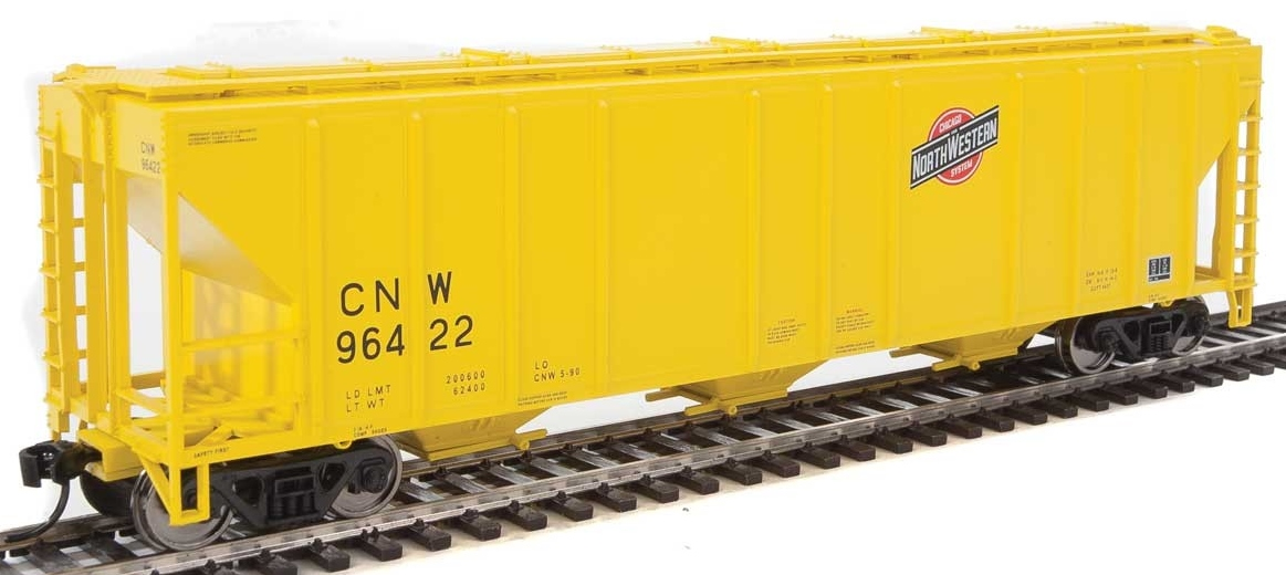 Walthers Mainline HO 910-7462 50' Pullman-Standard PS-2 CD 4427 3-Bay Covered Hopper Chicago & North Western CNW #96422