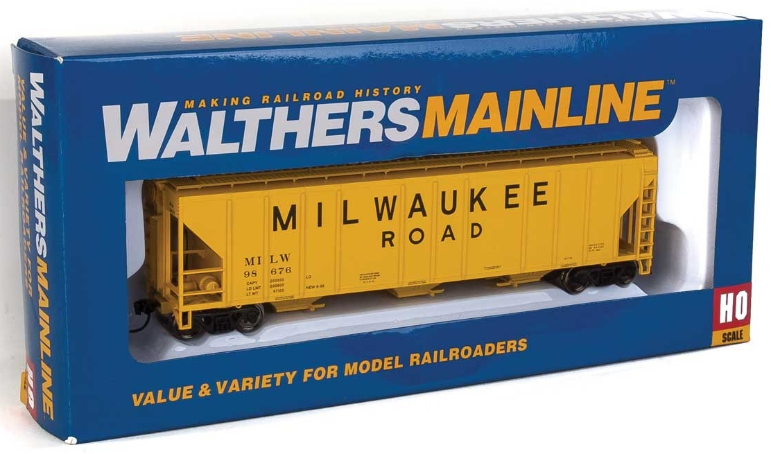 Walthers Mainline HO 910-7467 50' Pullman-Standard PS-2 CD 4427 3-Bay Covered Hopper Milwaukee Road MILW #98676