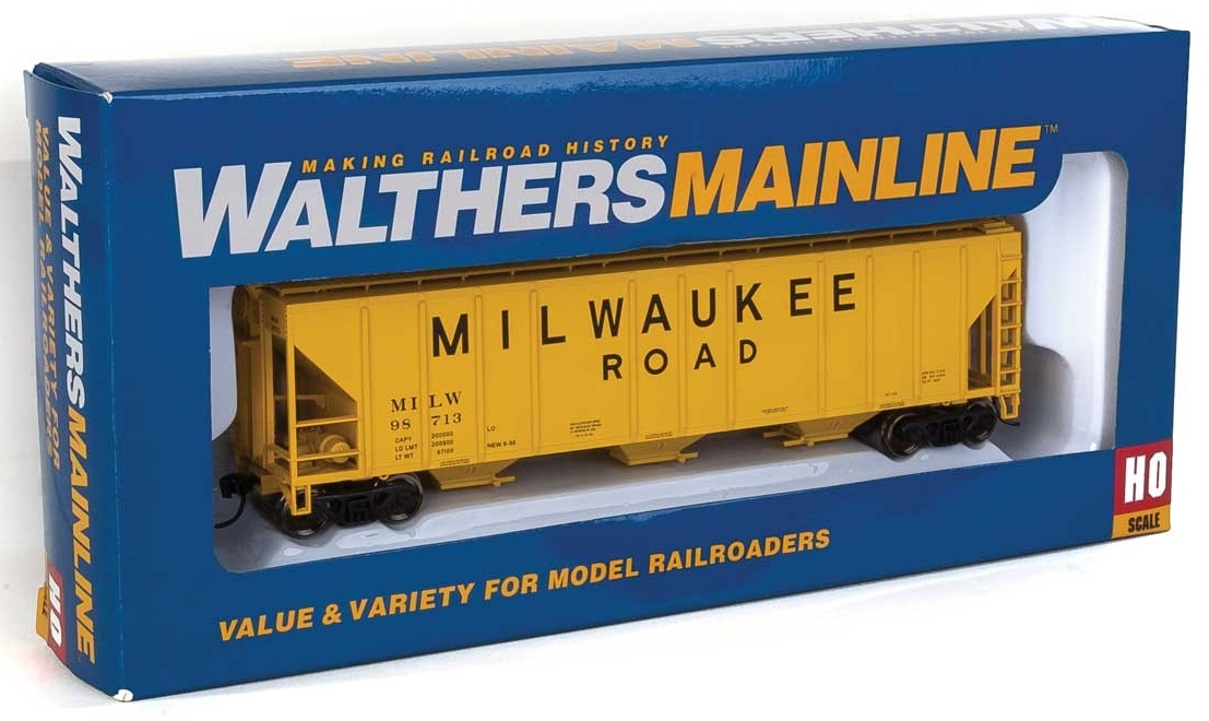 Walthers Mainline HO 910-7470 50' Pullman-Standard PS-2 CD 4427 3-Bay Covered Hopper Milwaukee Road MILW #98713