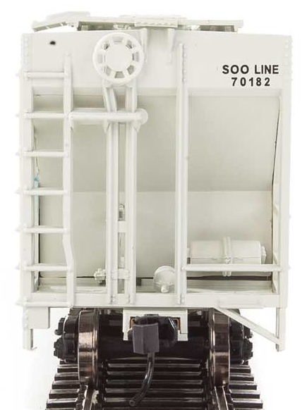 Walthers Mainline HO 910-7475 50' Pullman-Standard PS-2 CD 4427 3-Bay Covered Hopper Soo Line 'Colormark' #70182