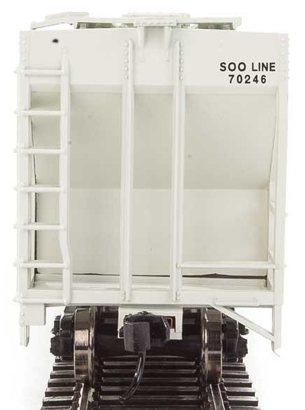 Walthers Mainline HO 910-7478 50' Pullman-Standard PS-2 CD 4427 3-Bay Covered Hopper Soo Line 'Colormark' #70246