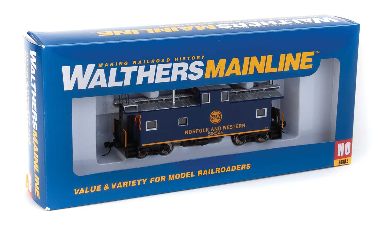 Walthers Mainline HO 910-8757 International Wide-Vision Caboose Norfolk & Western N&W #518546