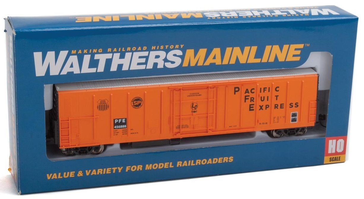 WalthersMainline HO 910-3936 57' Mechanical Reefer Pacific Fruit Express PFE #456888