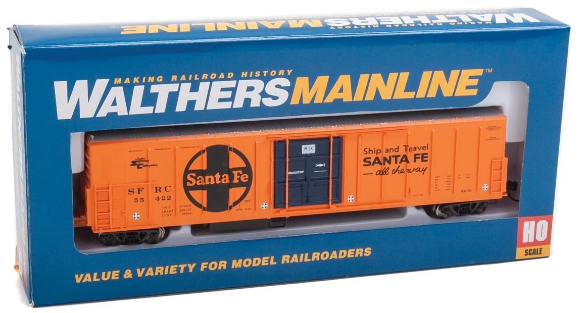 WalthersMainline HO 910-3937 57' Mechanical Reefer Santa Fe Large Logo 'Ship and Travel' Slogan SFRC #55422
