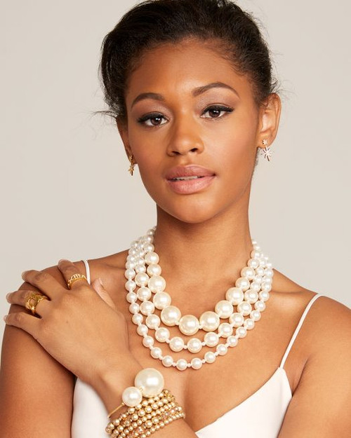 MONA LUXE PEARL COLLAR NECKLACE